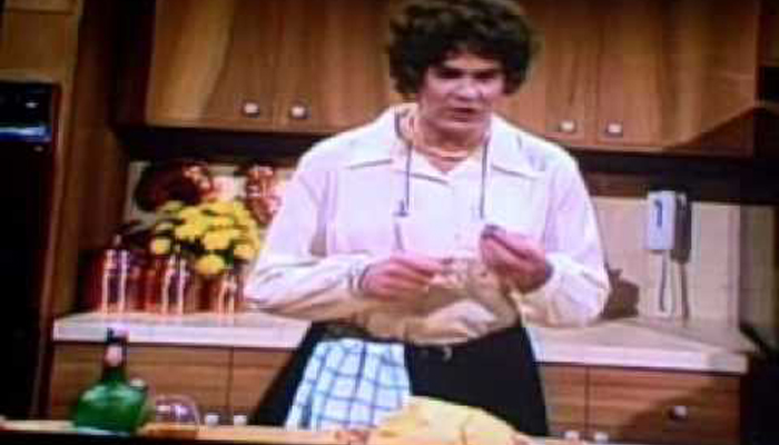 Dan Ackroyd as Julia Child on Saturday Night Live