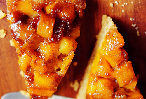 Chef Rick Bayless'<br>Peach-Lime Skillet Cake