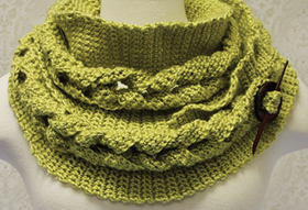 Crochet This Cable Crochet Cowl